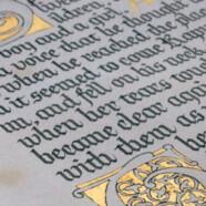 Мастер-класс «Готическое письмо. Текстура. Строчные»!