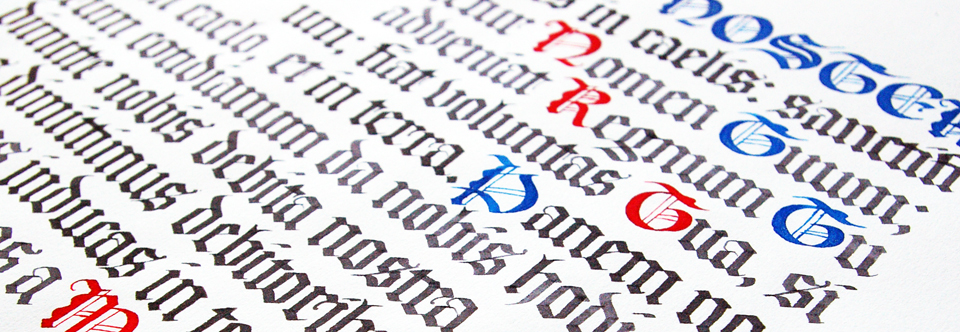 Открыт набор на курс «Готическое письмо» в вечерней и утренней группах!