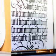 Знакомство с готическим письмом – на мастер-классе 25 ноября!