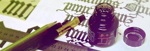 Новый курс «Знакомство с готическим письмом» по вечерам среды в сентябре!